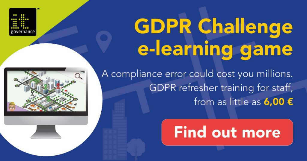 A compliance error could cost you millions. GDPR refresher training from as little as €6