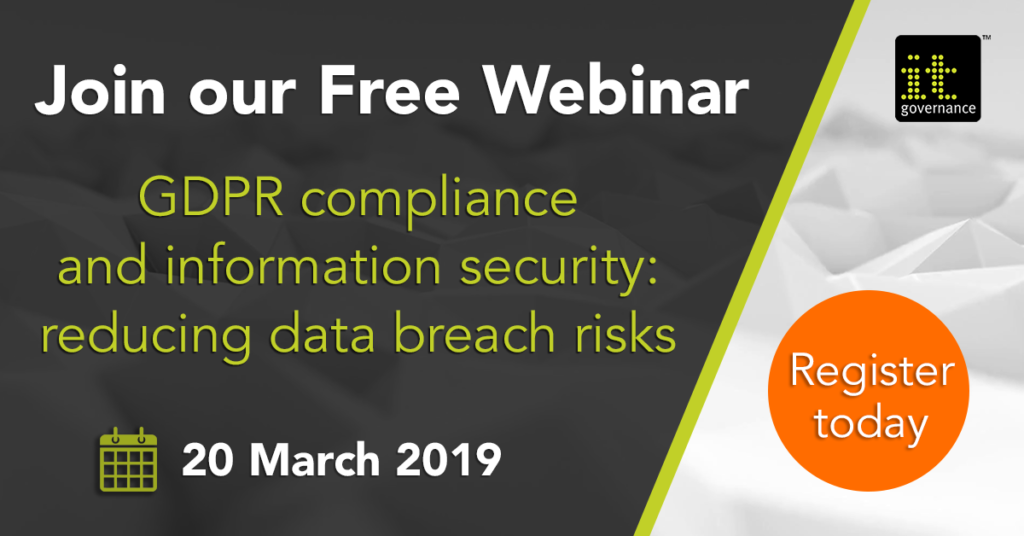 Join our free webinar: GDPR compliance and infromation security: reducing data breach risks