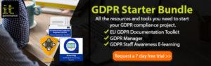 GDPR Starter Bundle email banner - 7 day trial