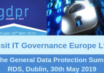 IT Governance Europe exhibiting at TechConnect Live 2019