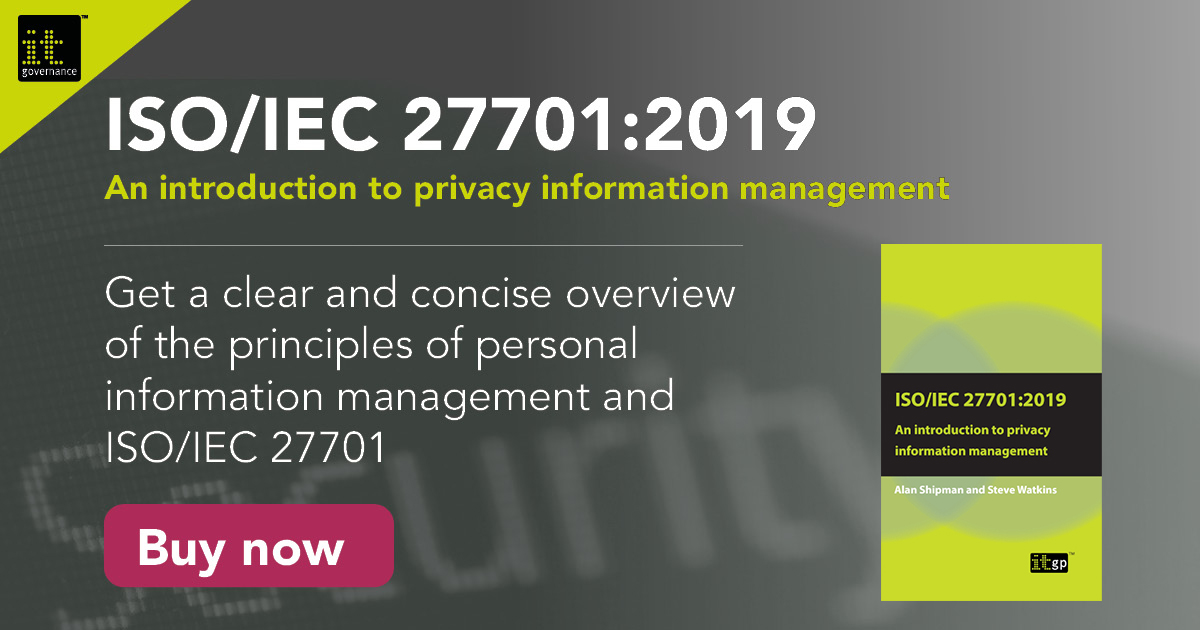 ISO 27701: An introduction to privacy information management