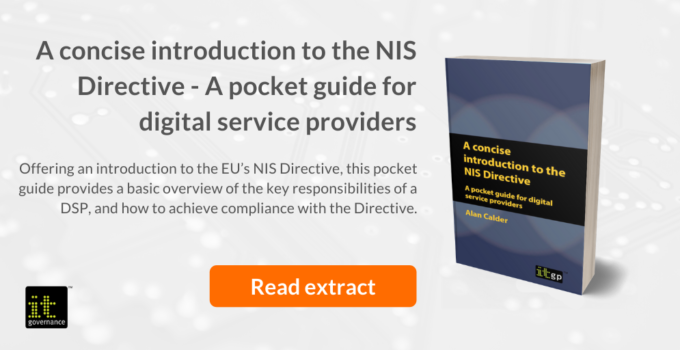 NIS Directive - The EU's Directive on security of network and information systems