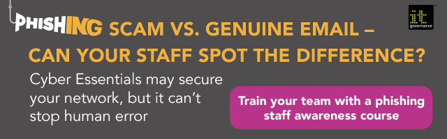 Can your staff spot a phishing email? Train your team with our staff awareness course