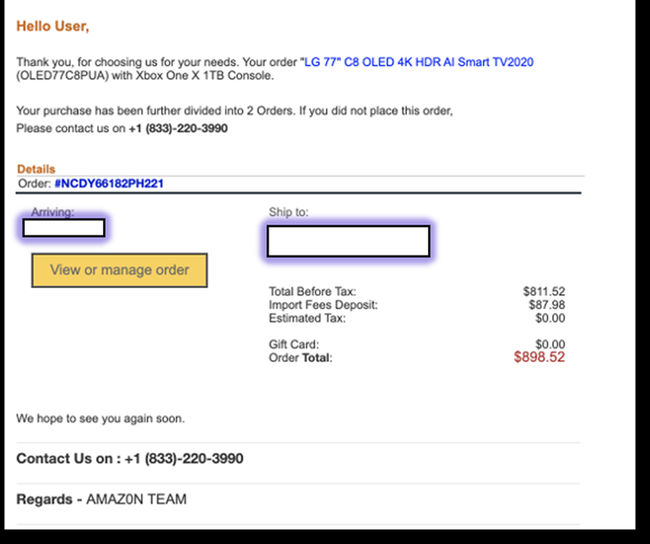 Watch Out For Scam Emails Replicating Amazon That Steal Your Credit Card Data It Governance Blog En