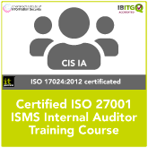 Certified ISO 27001 ISMS Internal Auditor Training Course