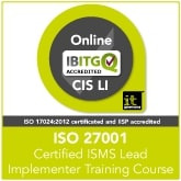Certified ISO 27001 ISMS Lead Implementer Live Online Training Course