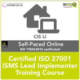 Certified ISO 27001 ISMS Lead Implementer Self-Paced Online Training Course