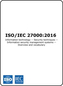 ISO 27000 2016 (ISO27000 Standard) ISMS Overview and Vocabulary