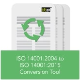 ISO 14001 2004 to ISO 14001 2015 Conversion Tool