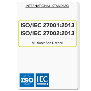 Multiuser Site Licence ISO IEC 27001 2013 and ISO IEC 27001 2013