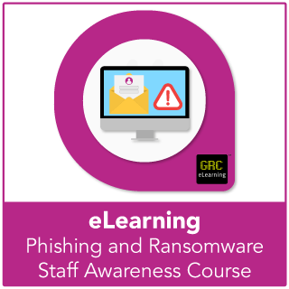 Phishing and ransomware human patch staff awareness e-learning course