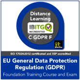 Certified EU General Data Protection Regulation (GDPR) Foundation Distance Learning Training Course and Exam