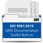 ISO 9001 2015 QMS Documentation Toolkit Bolt-on