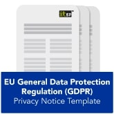 EU General Data Protection Regulation (GDPR) Privacy Notice Template