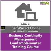 Business Continuity Management Lead Implementer Distance Learning Training Course