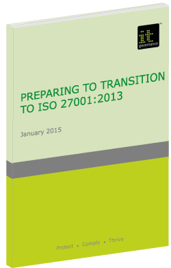 Transitioning to ISO27001 Green Paper