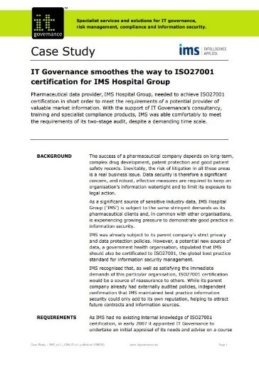 Achieve GDPR compliance with ISO 27001
