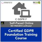 Certified GDPR Foundation Distance Learning Training Course
