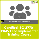 Certified ISO 27701 PIMS Lead Implementer Training Course